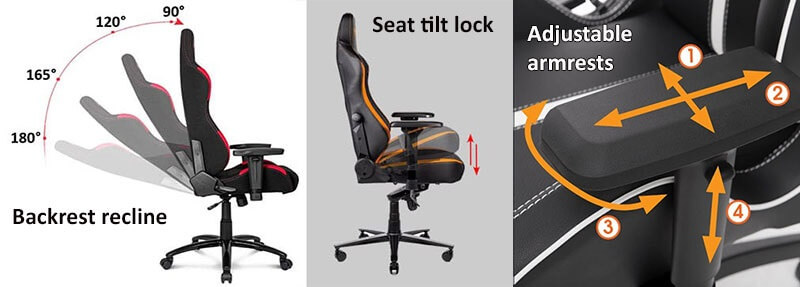 Gaming Chair Adjustability